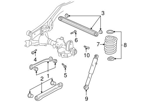 Rear Suspension for 2002 Chevrolet Avalanche 1500 | GM Parts OnlineGM Parts Online