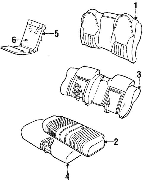 Rear Seat Components For 1996 Chevrolet Lumina