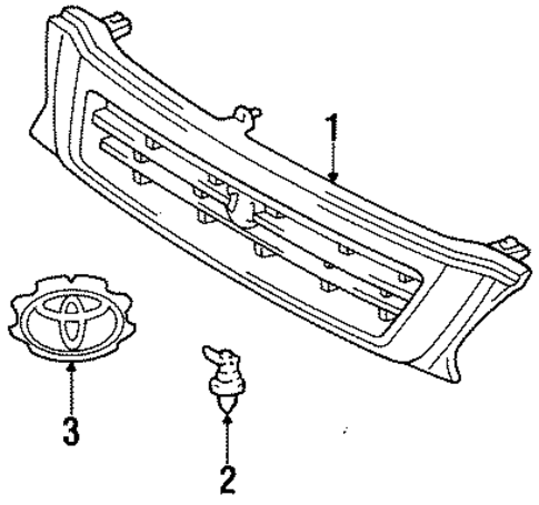BODY/GRILLE & COMPONENTS for 1996 Toyota Tercel #1