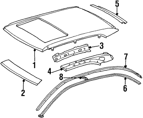 Roof Components For 1999 Mercedes Benz Cl 500