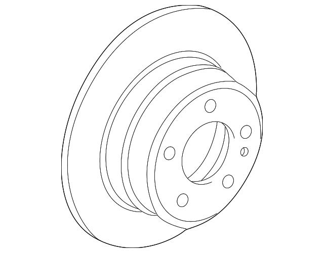 1994 2001 Bmw 750il Rotor 34 21 6 767 062