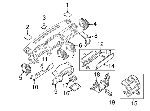 Instrument Panel Components For 2007 Nissan Pathfinder