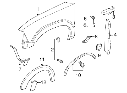 290594927213 as well Bumper And  ponents Front Scat as well Shroud Switches And Levers Scat likewise Therangerstation   tech library diagrams as1 in addition Gm Drain Tube 22697948. on 1997 camaro accessories