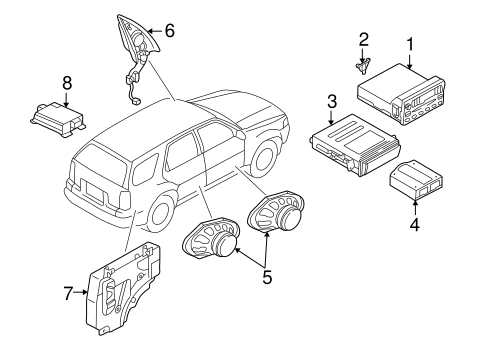 Body/Sound System for 2001 Ford Escape #1