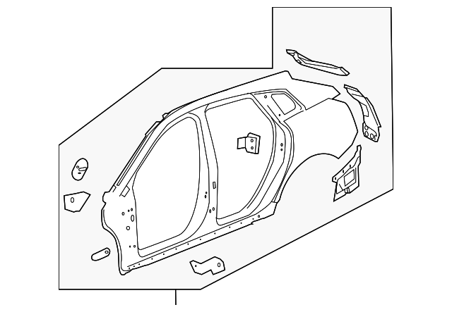 2010 2016 Cadillac Srx Uniside Panel 23211646