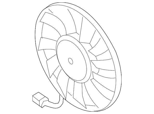 2006 2017 Volkswagen Fan Motor 1k0 959 455 Et