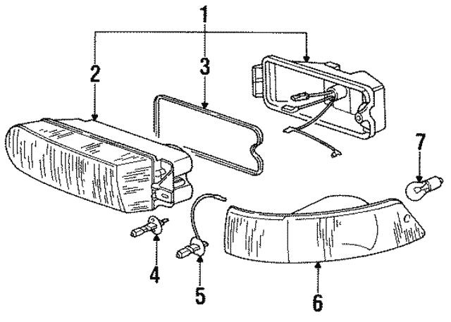 1992 1995 Porsche 968 Fog Lamp Assembly 944 631 046 00