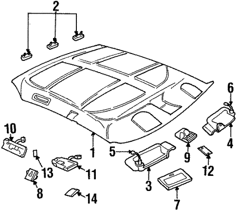interior trim roof for 1999 buick lesabre custom gmpartsnow 1990 Buick LeSabre body interior trim roof for 1999 buick lesabre 1