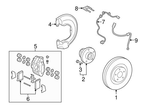 Brake Components For 2008 Mitsubishi Lancer Evolution Mr