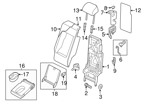 Rear Seat Components For 2011 Volkswagen Touareg