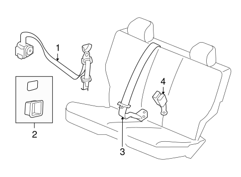 Rear Seat Belts For 2010 Jeep Liberty