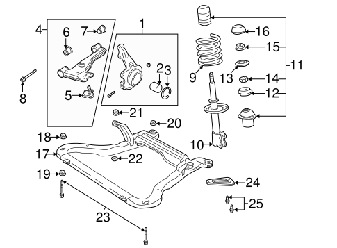 2003 saturn l200 radio wiring diagram oem 2003 saturn l200 suspension components parts ... #15
