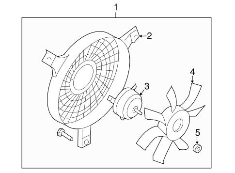 Condenser Fan For 2003 Infiniti G35
