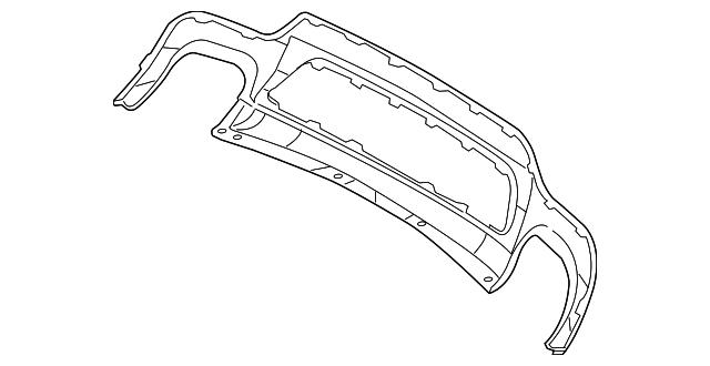 valance panel mercedes benz 230 885 37 25 9999 factory oem. Black Bedroom Furniture Sets. Home Design Ideas