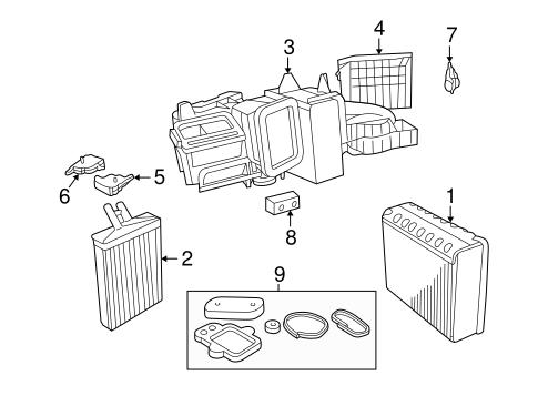Evaporator Amp Heater Components For 2000 Dodge Intrepid