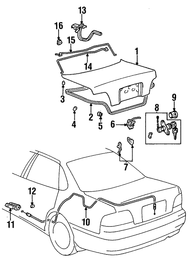 [DIAGRAM_38EU]  1995-1997 Toyota Avalon Weatherstrip 64461-07020 | Toyota Parts Center | 1997 Toyota Avalon Engine Diagram |  | Olathe Toyota Parts Center