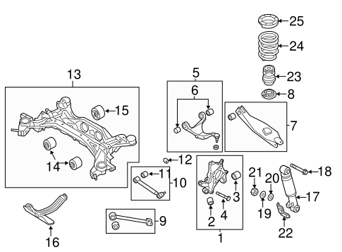 Rear Suspension for 2011 Kia Sorento #2