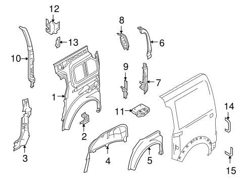 Body/Inner Structure for 2013 Ford Transit Connect #1