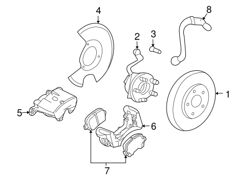 Brakes/Brake Components for 2006 Chevrolet Malibu #1