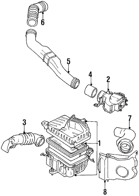 engine/air intake for 1990 toyota pickup #1