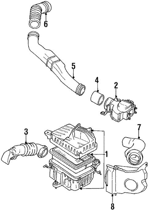 Air Intake For 1989 Toyota Pickup