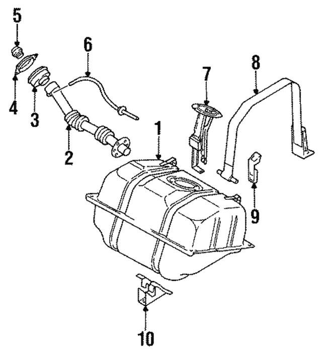 1993 1997 Infiniti J30 Fuel Sender Unit 25060 10y00