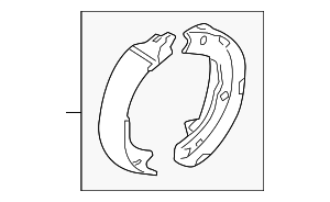 Park Brake Shoes - Kia (58305-3QA00)