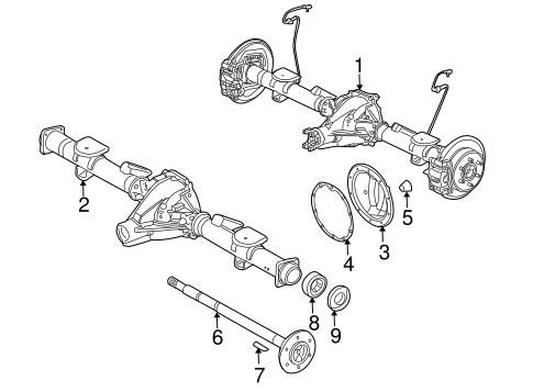 Hummer H3 Front Differential Diagram