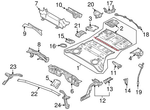Rear Floor Rails For 2014 Nissan 370z