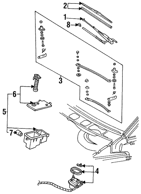 wiper components for 1996 ford aerostar