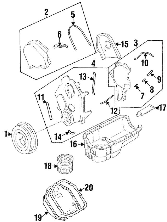 Right Genuine Hyundai 21375-35351 Timing Belt Cover Rear