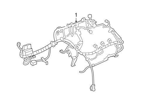 electrical/wiring harness for 2013 chevrolet equinox #1