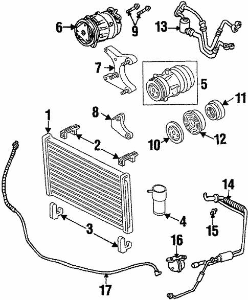 Condenser Compressor Lines For 1998 Oldsmobile Intrigue