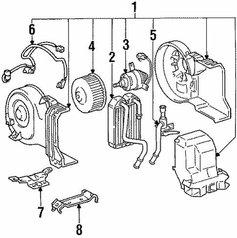 Genuine Oem Heater Parts For 1994 Toyota 4runner Sr5
