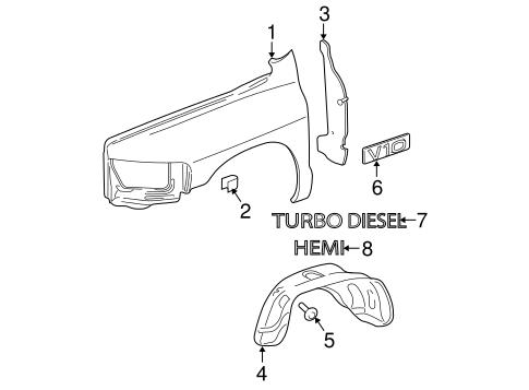 fender  u0026 components for 2004 dodge ram 2500