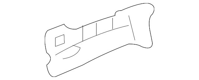 FORD OEM-Fender Front Bracket Left 8G1Z16A024A