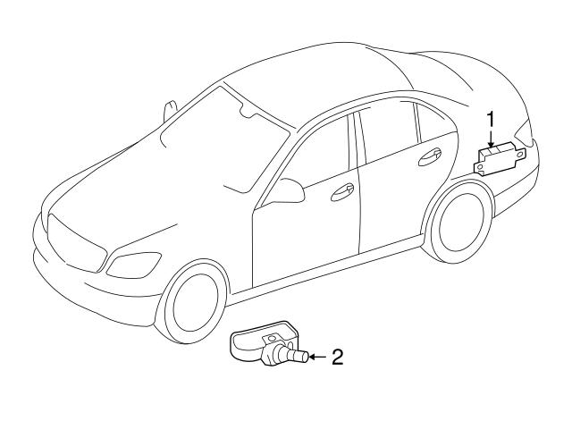 2008 2017 Mercedes Benz Tire Pressure Sensor 000 905 72 00