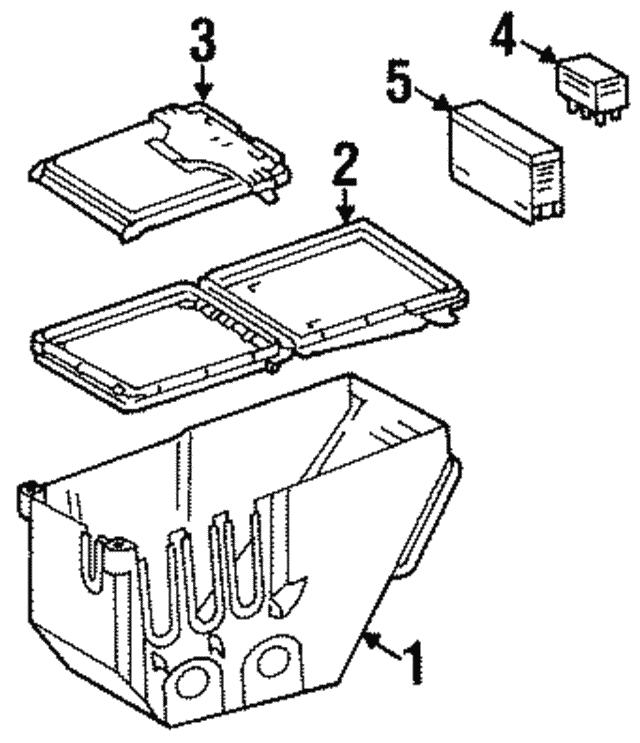 fuse box - mercedes-benz (140-540-06-50)