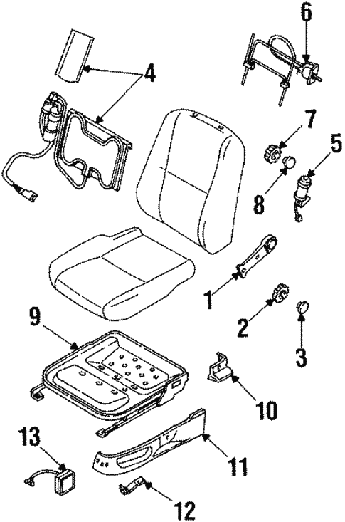 Body/Tracks & Components for 1997 Ford Contour #1
