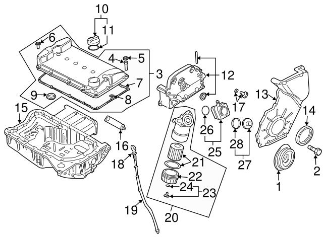 2004 2019 Volkswagen Filler Cap Gasket 036 115 111 B