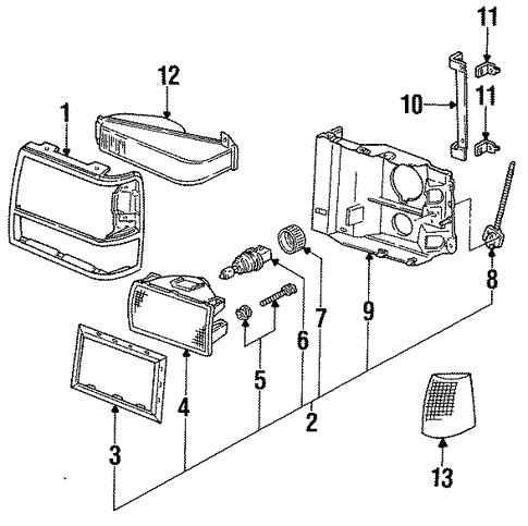 Headlamp Components For 1994 Ford Explorer