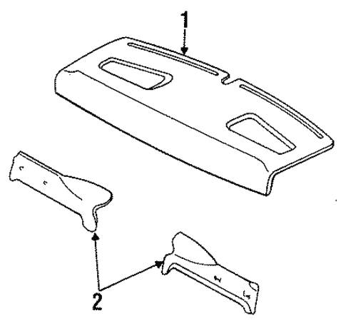 Body/Interior Trim - Rear Body for 1997 Ford Contour #1