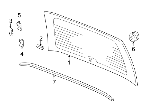 Spacer, Rear Windshield