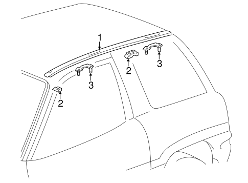 Exterior Trim - Roof for 1996 Toyota RAV4 #2