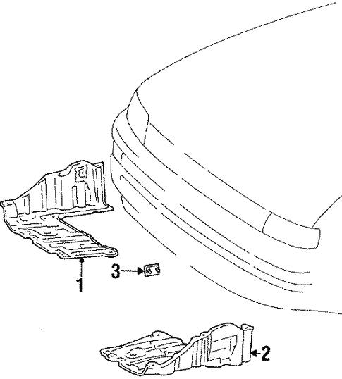 Splash Shields For 2000 Chevrolet Prizm