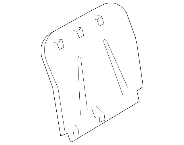 2009 2015 Infiniti Seat Back Panel 87640 Jj80b