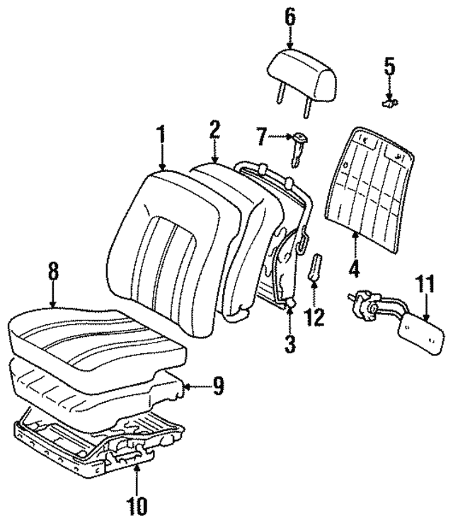 Seat Back Cover Toyota 71073ac010e2: 1997 Toyota Avalon Engine Diagram At Scrins.org
