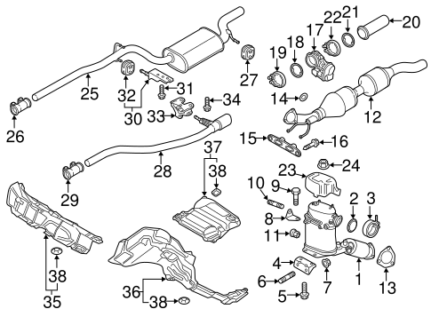Exhaust Components For 2013 Volkswagen Passat