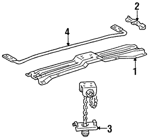 BODY/CARRIER & COMPONENTS for 1996 Toyota Land Cruiser #1