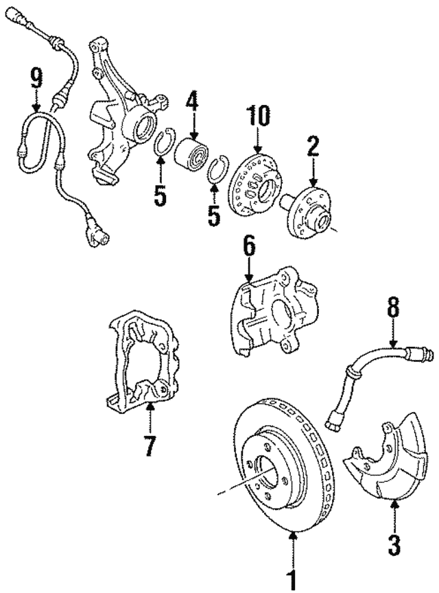 Brake Rotor - Volkswagen (3A0-615-301-A)